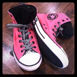 Converse Allstar Sneakers w/Black Tulle Tongue